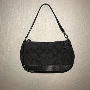 Authentic mini coach purse gray & black never used